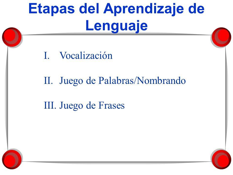 Etapas del Aprendizaje de Lenguaje
