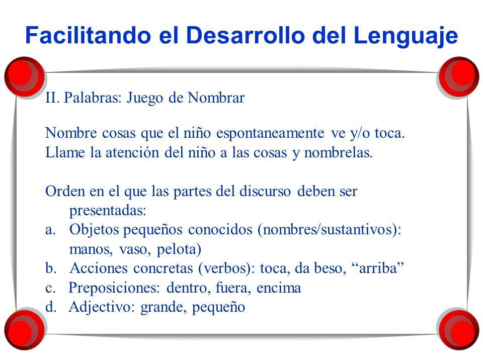Facilitando el Desarrollo del Lenguaje