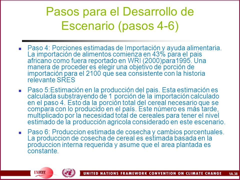 Pasos para el Desarrollo de Escenario (pasos 4-6)