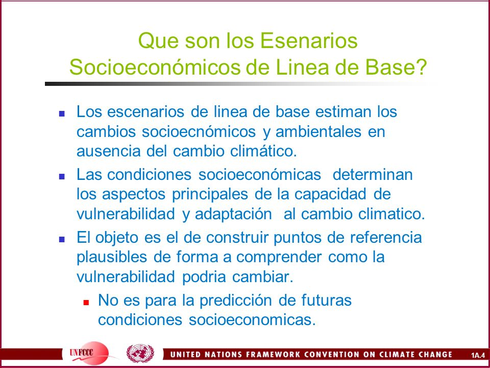 Que son los Esenarios Socioeconómicos de Linea de Base