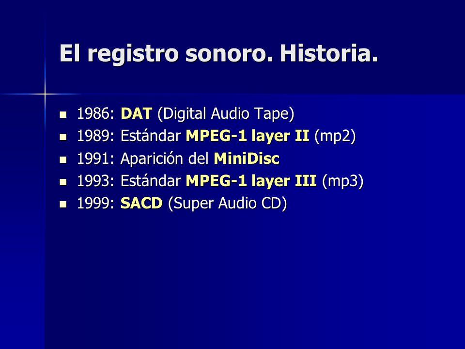 El registro sonoro. Historia.