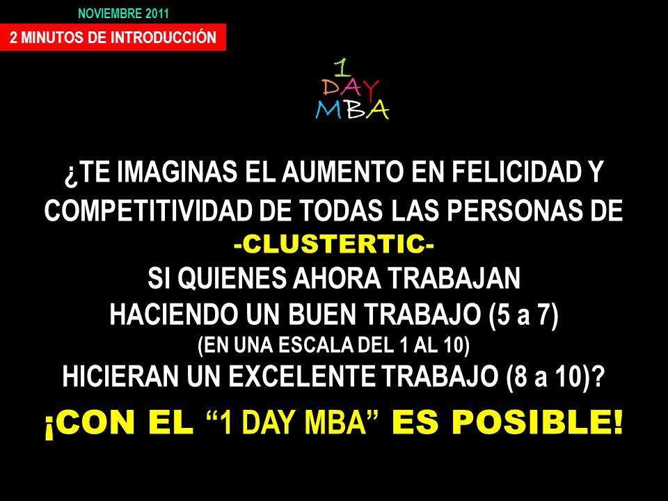 1 MBA ¡CON EL 1 DAY MBA ES POSIBLE!