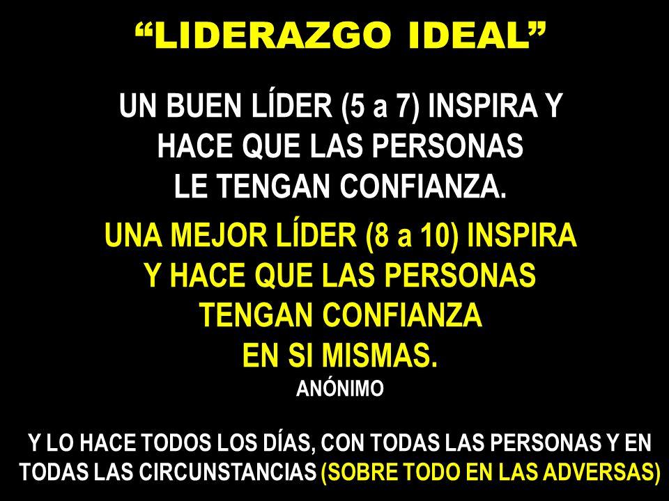 UN BUEN LÍDER (5 a 7) INSPIRA Y UNA MEJOR LÍDER (8 a 10) INSPIRA