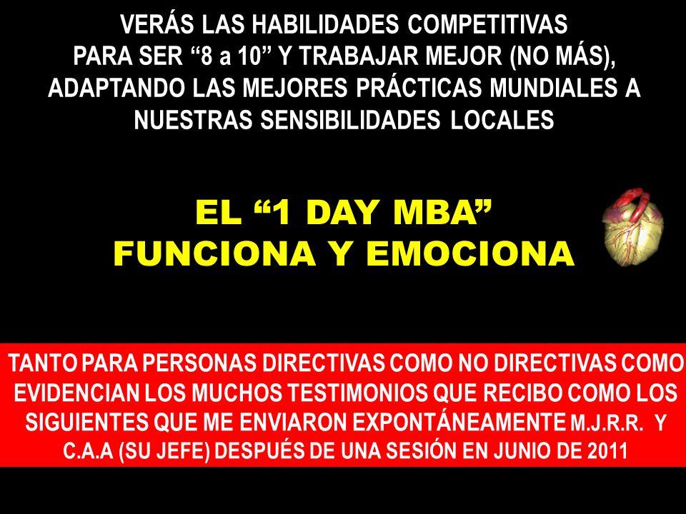 EL 1 DAY MBA FUNCIONA Y EMOCIONA