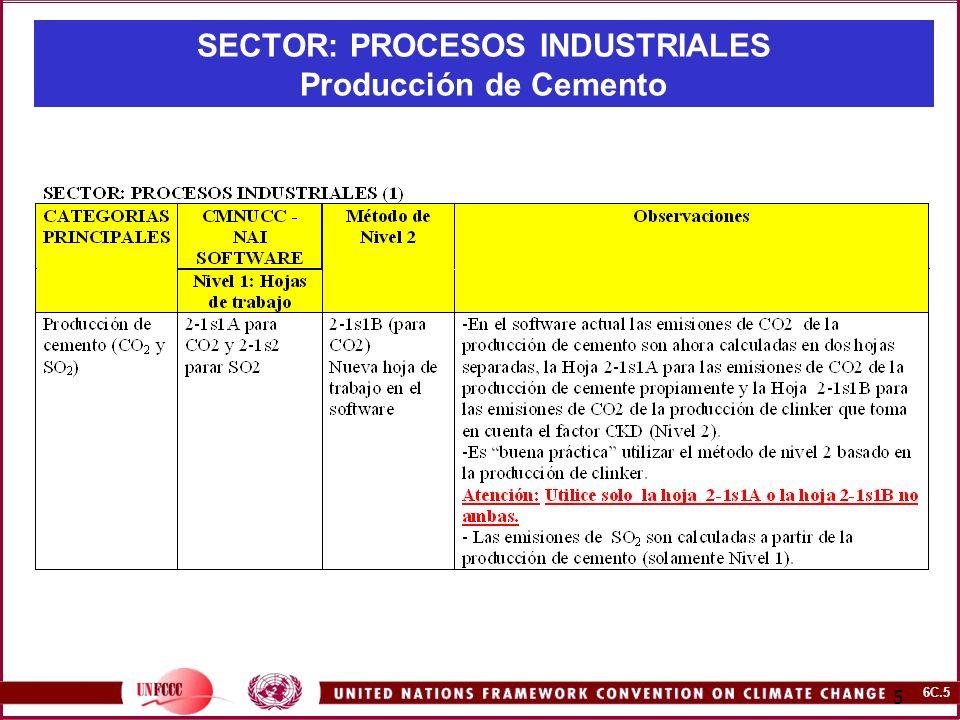 SECTOR: PROCESOS INDUSTRIALES Producción de Cemento