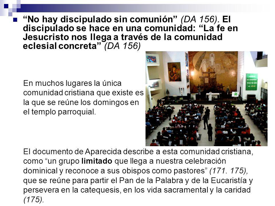 No hay discipulado sin comunión (DA 156)