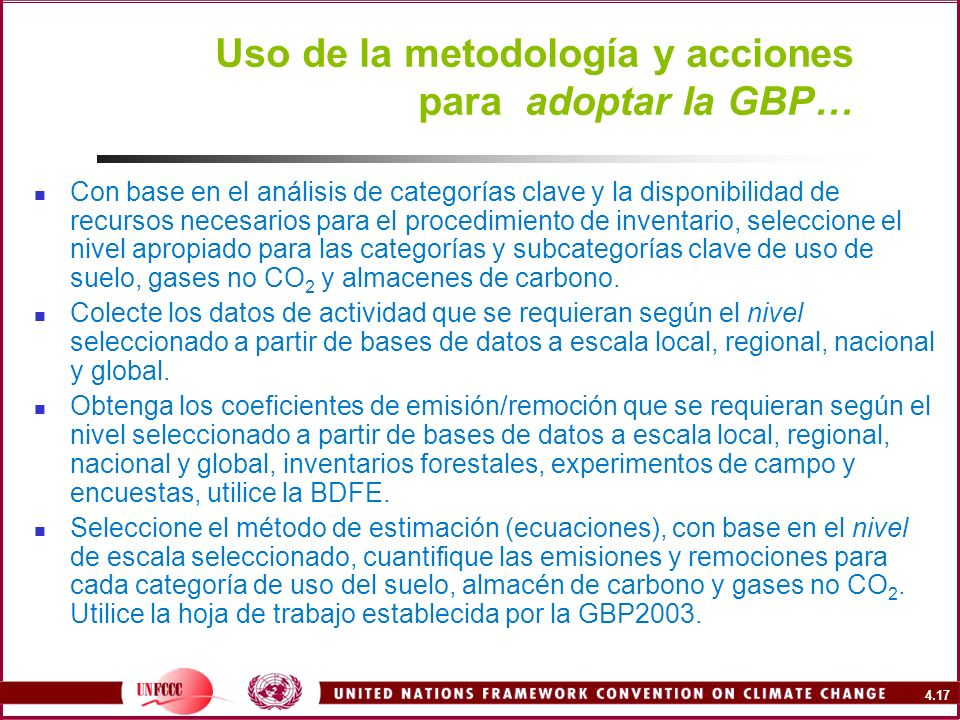 Uso de la metodología y acciones para adoptar la GBP…