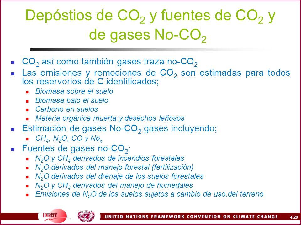 Depóstios de CO2 y fuentes de CO2 y de gases No-CO2