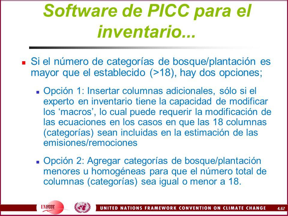 Software de PICC para el inventario...