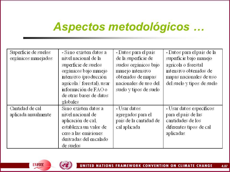 Aspectos metodológicos …