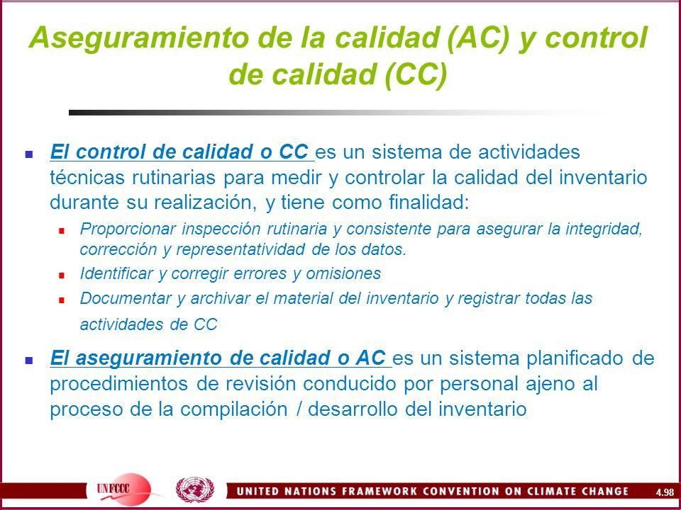 Aseguramiento de la calidad (AC) y control de calidad (CC)