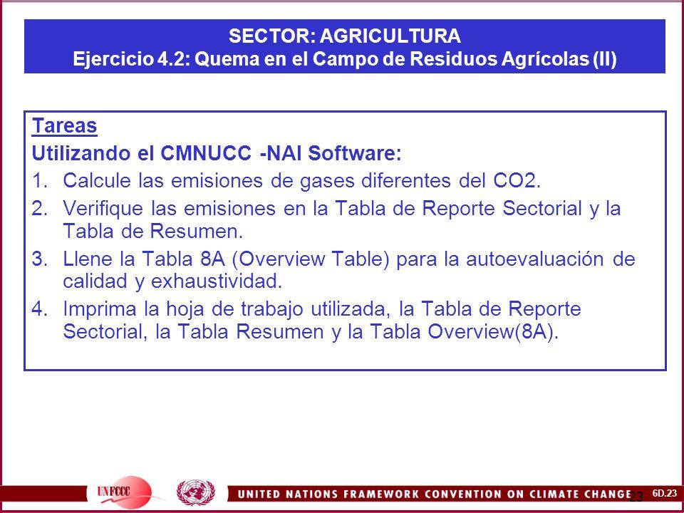 Utilizando el CMNUCC -NAI Software: