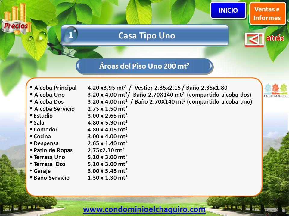1 Casa Tipo Uno www.condominioelchaquiro.com Precios