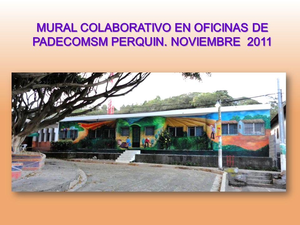 MURAL COLABORATIVO EN OFICINAS DE PADECOMSM PERQUIN. NOVIEMBRE 2011
