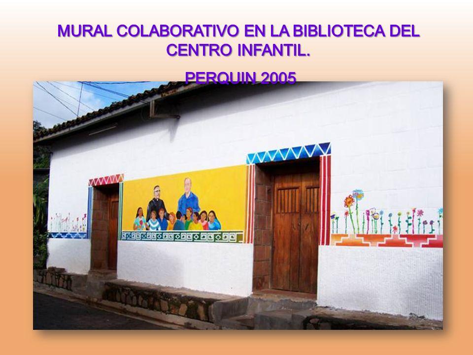 MURAL COLABORATIVO EN LA BIBLIOTECA DEL CENTRO INFANTIL.