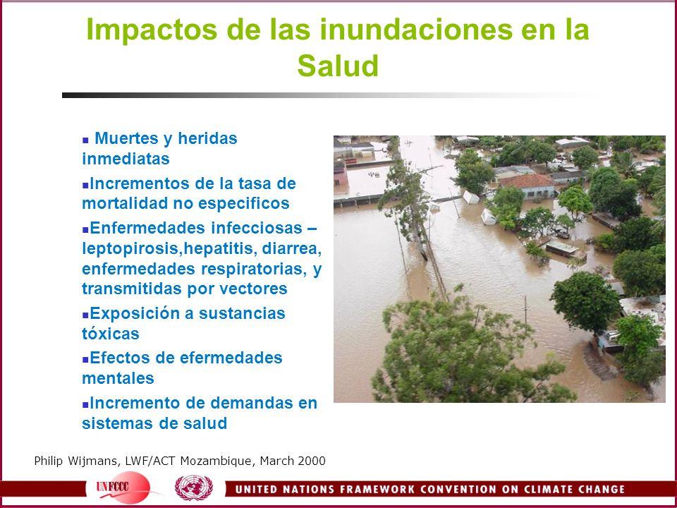 Impactos de las inundaciones en la Salud
