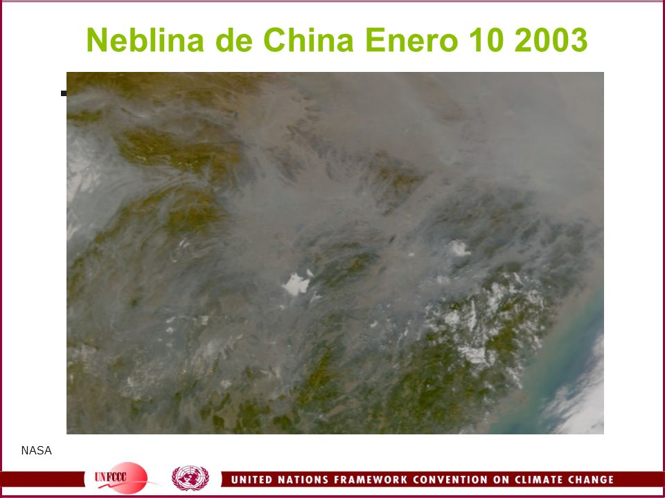 Neblina de China Enero 10 2003