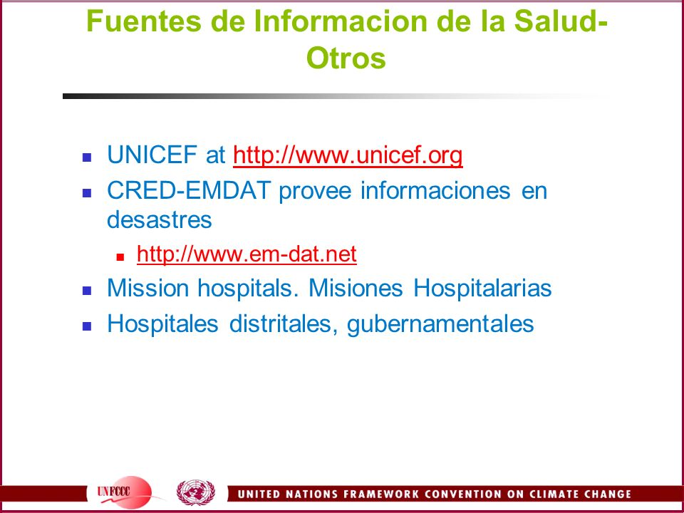 Fuentes de Informacion de la Salud- Otros
