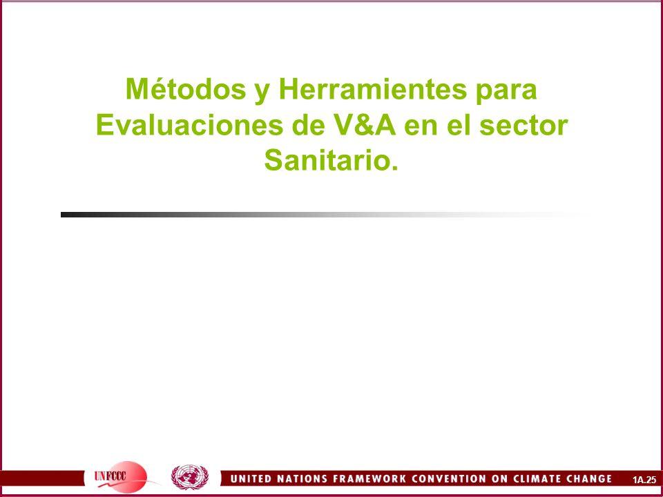 Métodos y Herramientes para Evaluaciones de V&A en el sector Sanitario.