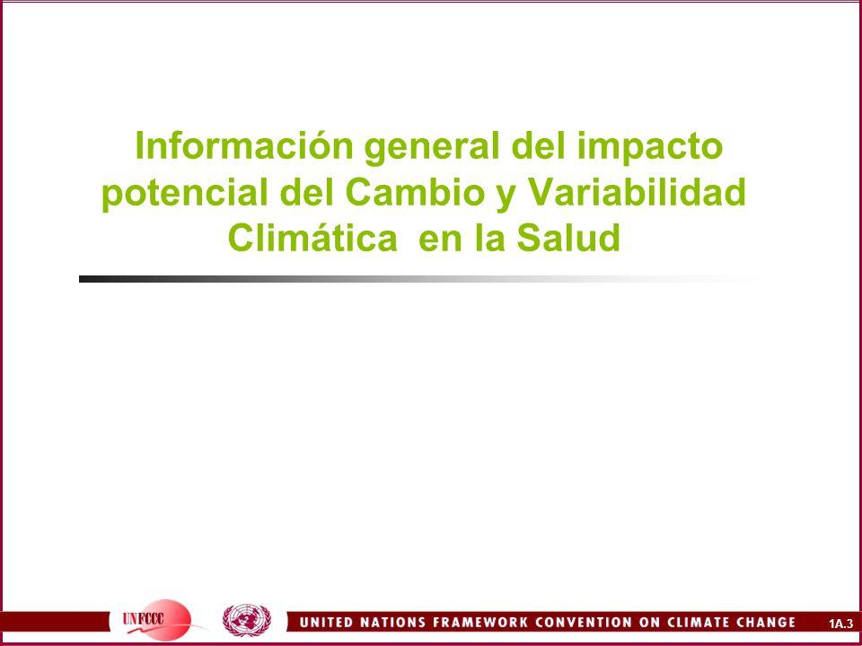 Información general del impacto potencial del Cambio y Variabilidad Climática en la Salud