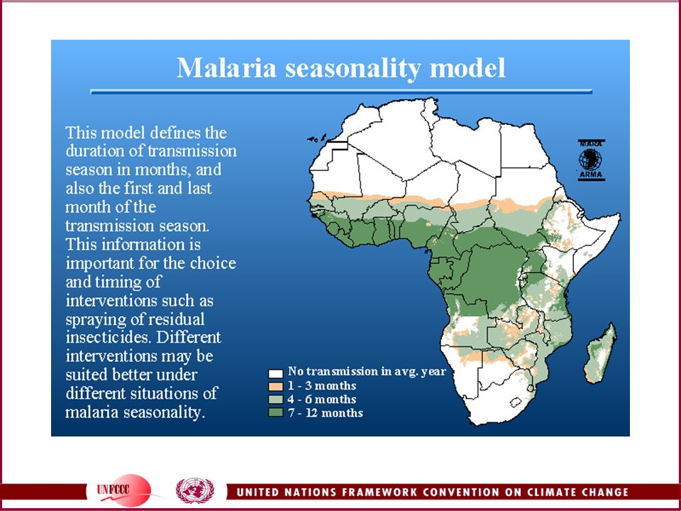 Also from the MARA/ARMA website, this shows the duration of the malaria transmission season in Africa.