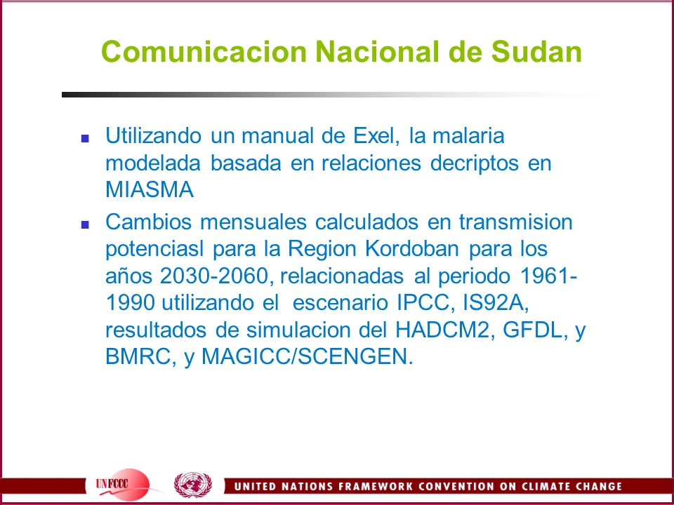Comunicacion Nacional de Sudan