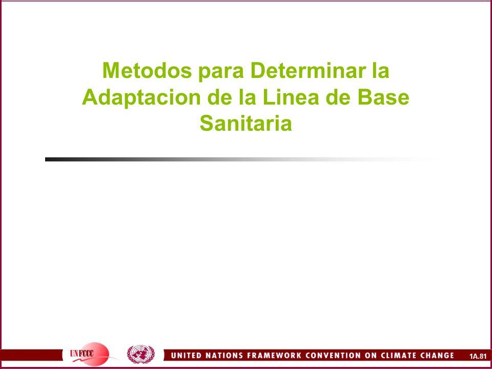 Metodos para Determinar la Adaptacion de la Linea de Base Sanitaria