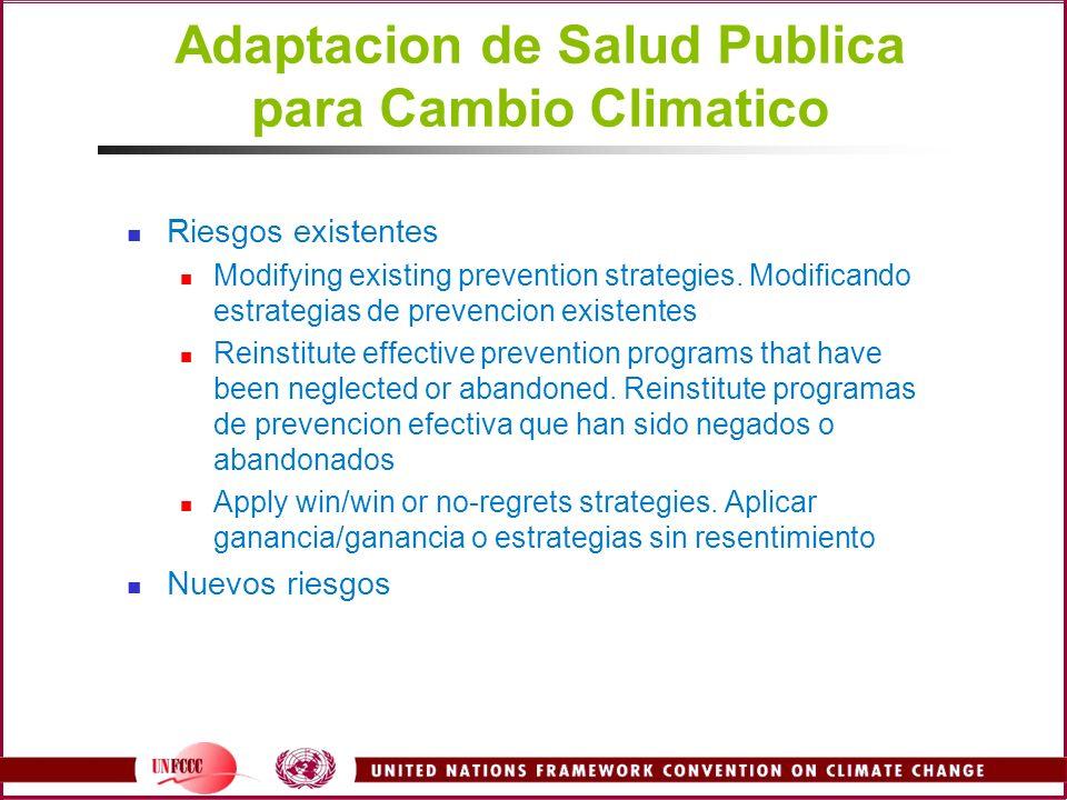 Adaptacion de Salud Publica para Cambio Climatico