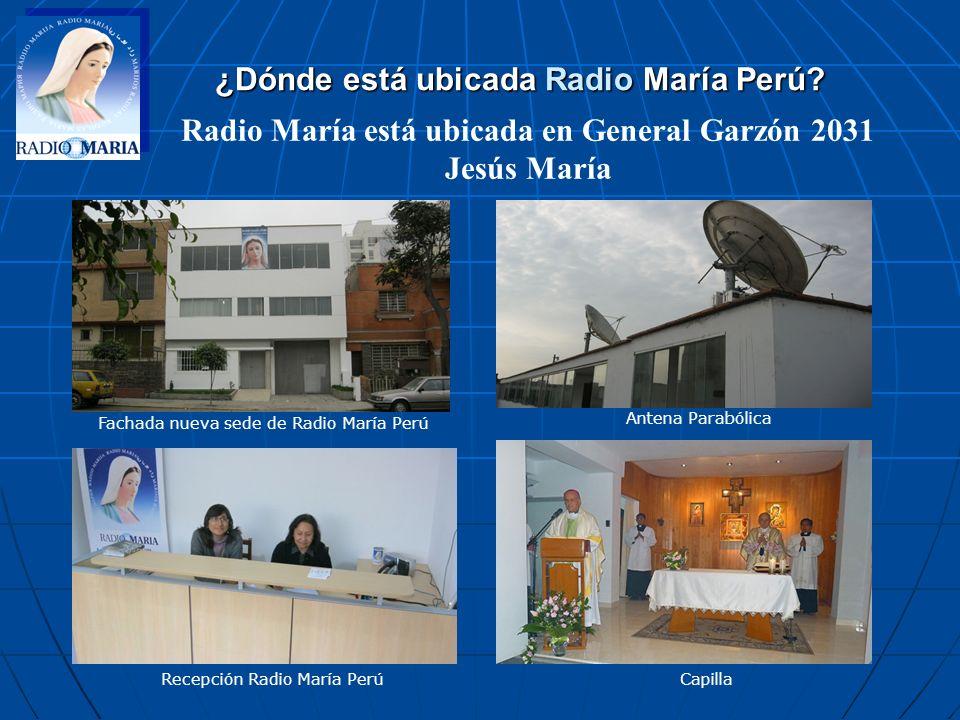 ¿Dónde está ubicada Radio María Perú