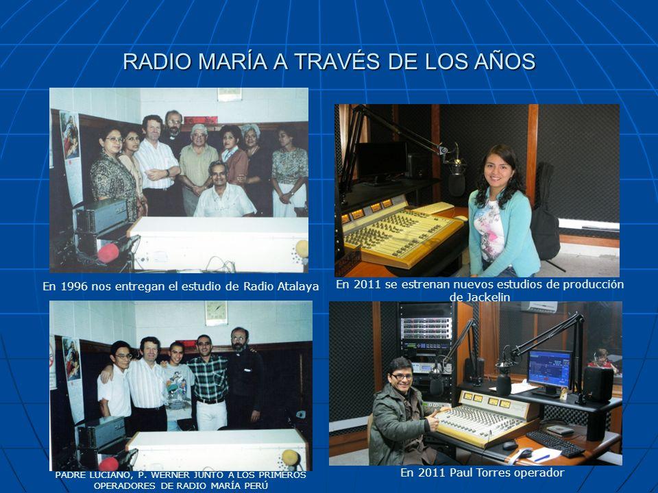 RADIO MARÍA A TRAVÉS DE LOS AÑOS