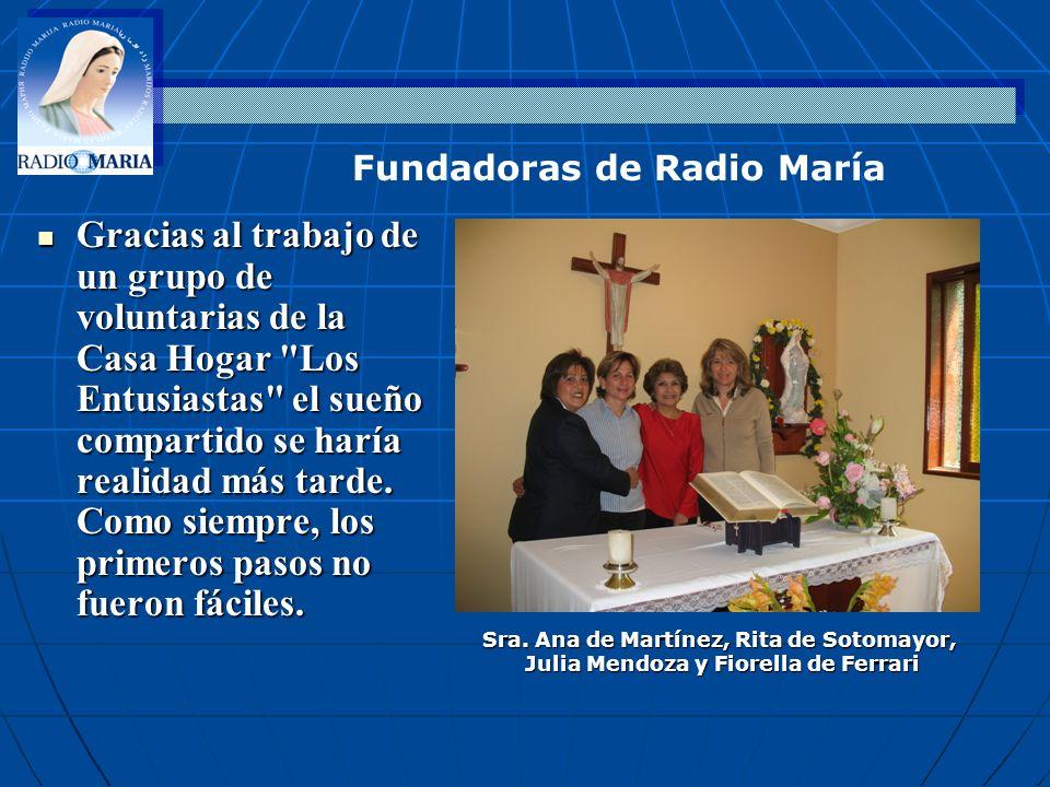 Fundadoras de Radio María