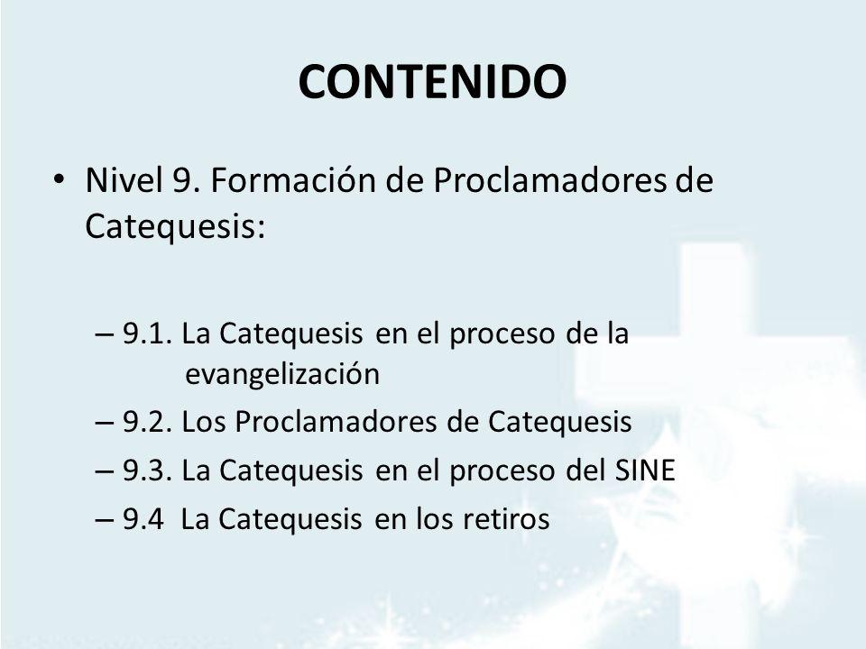 CONTENIDO Nivel 9. Formación de Proclamadores de Catequesis: