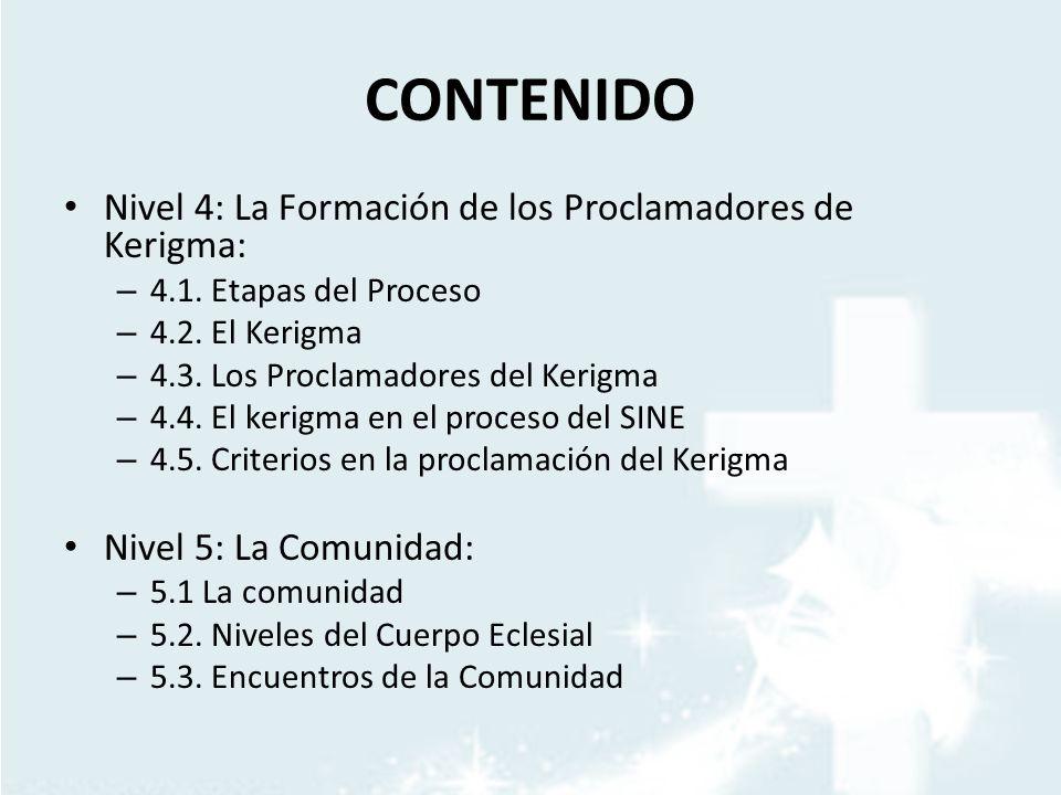 CONTENIDO Nivel 4: La Formación de los Proclamadores de Kerigma: