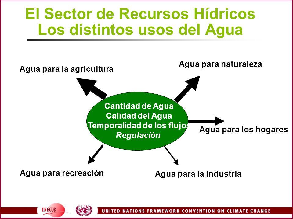 El Sector de Recursos Hídricos Los distintos usos del Agua
