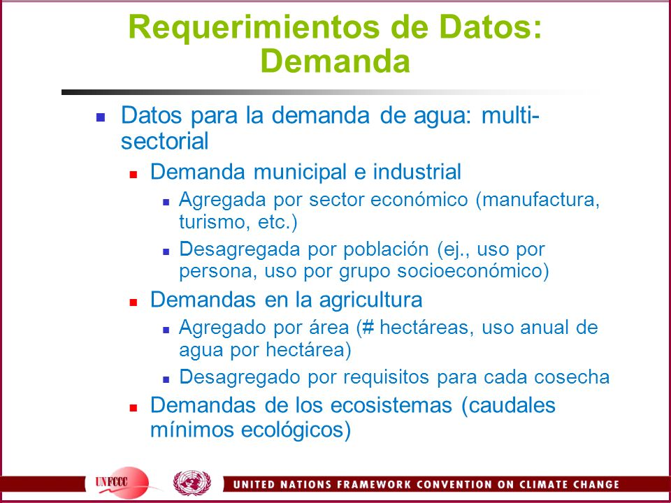 Requerimientos de Datos: Demanda