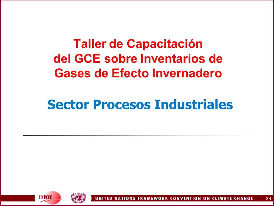 Taller de Capacitación del GCE sobre Inventarios de Gases de Efecto Invernadero Sector Procesos Industriales