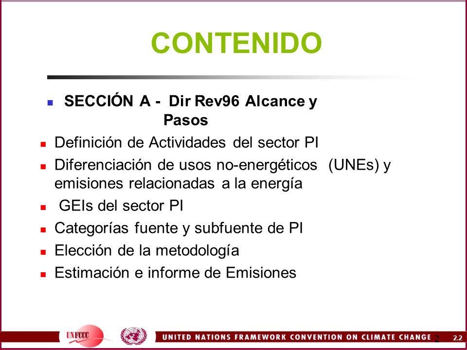 SECCIÓN A - Dir Rev96 Alcance y Pasos