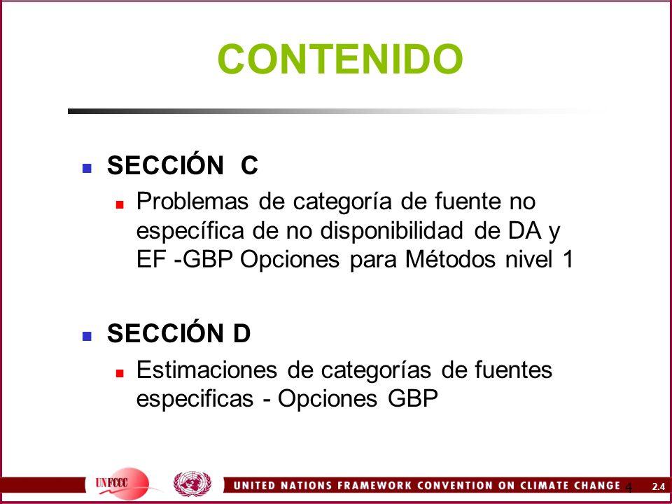 CONTENIDO SECCIÓN C SECCIÓN D