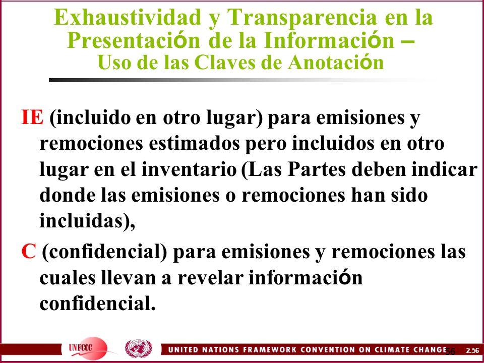 Exhaustividad y Transparencia en la Presentación de la Información – Uso de las Claves de Anotación