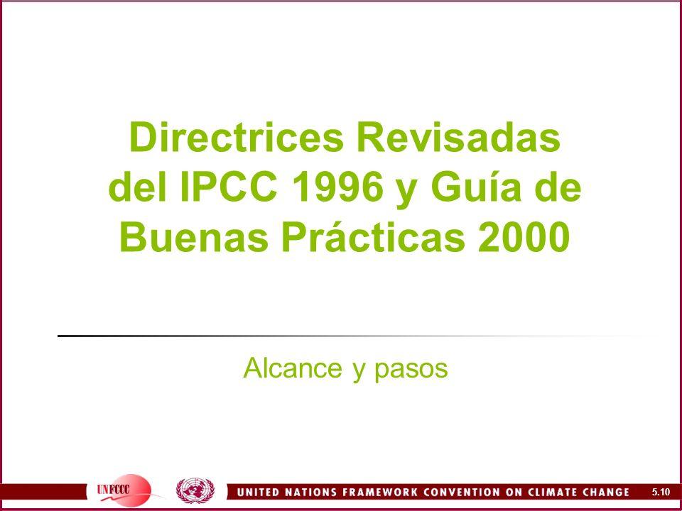 Directrices Revisadas del IPCC 1996 y Guía de Buenas Prácticas 2000