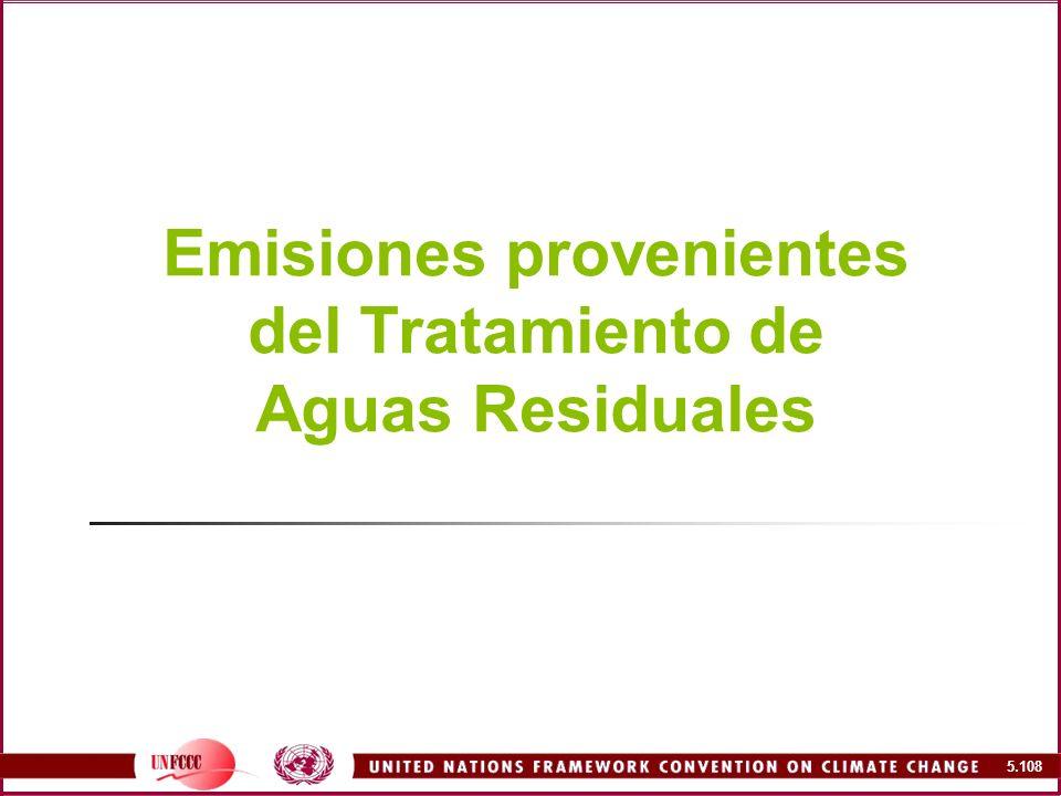 Emisiones provenientes del Tratamiento de Aguas Residuales