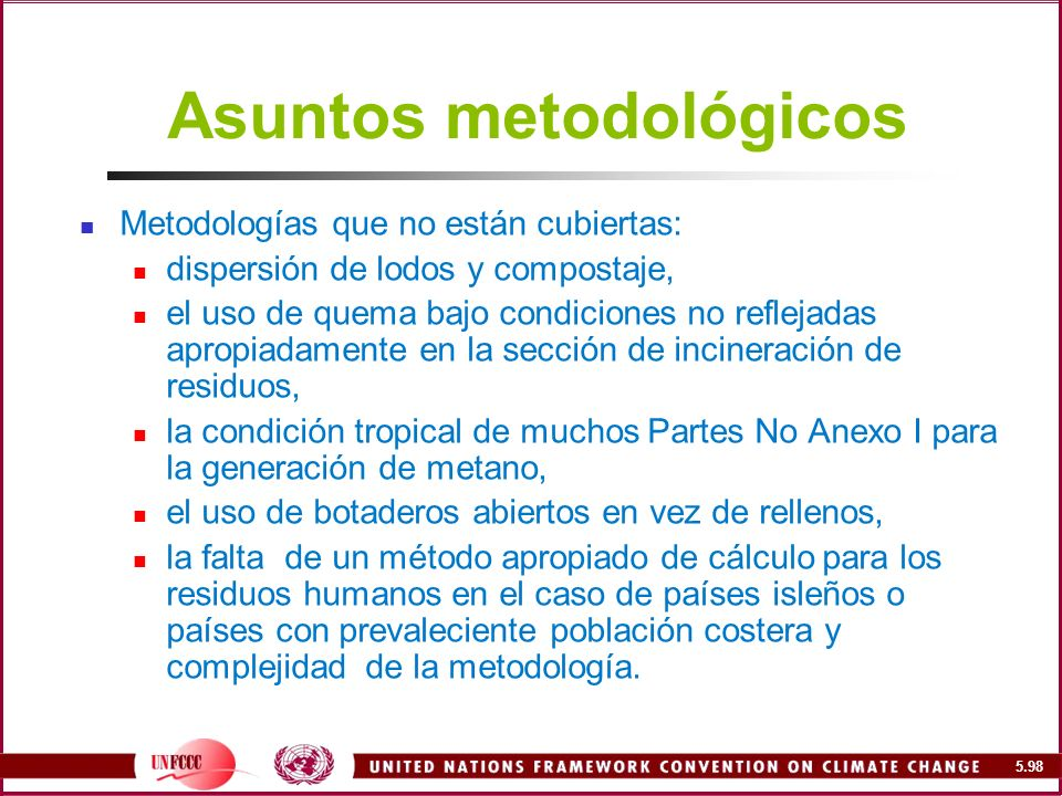 Asuntos metodológicos