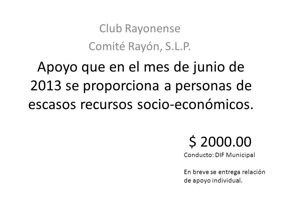 Club Rayonense Comité Rayón, S.L.P.