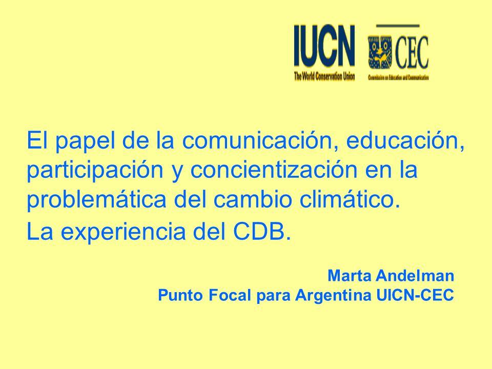 Marta Andelman Punto Focal para Argentina UICN-CEC