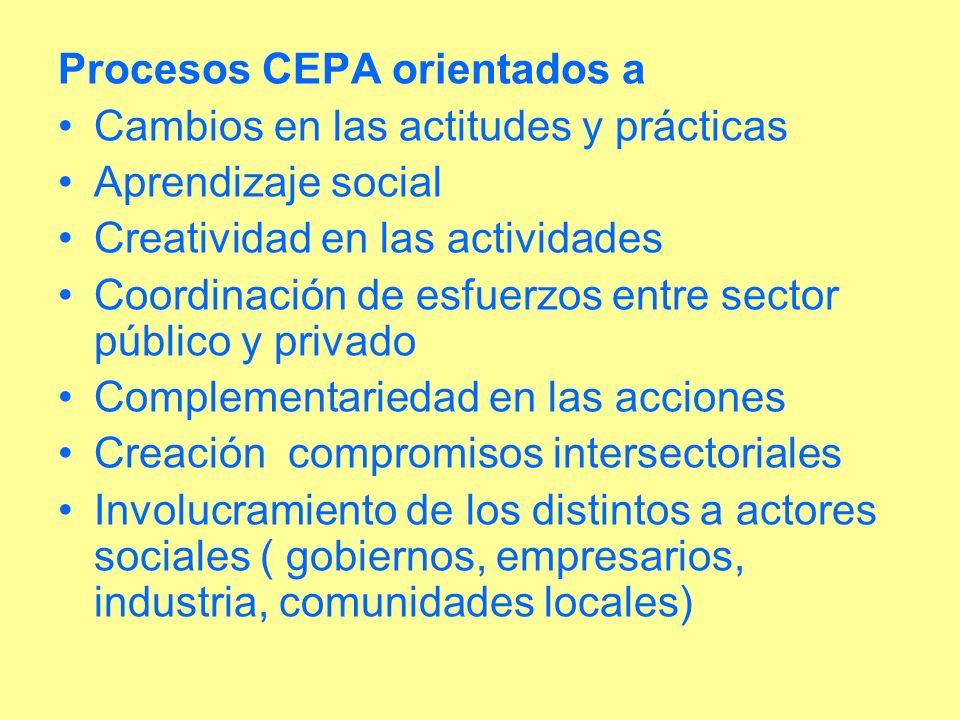 Procesos CEPA orientados a