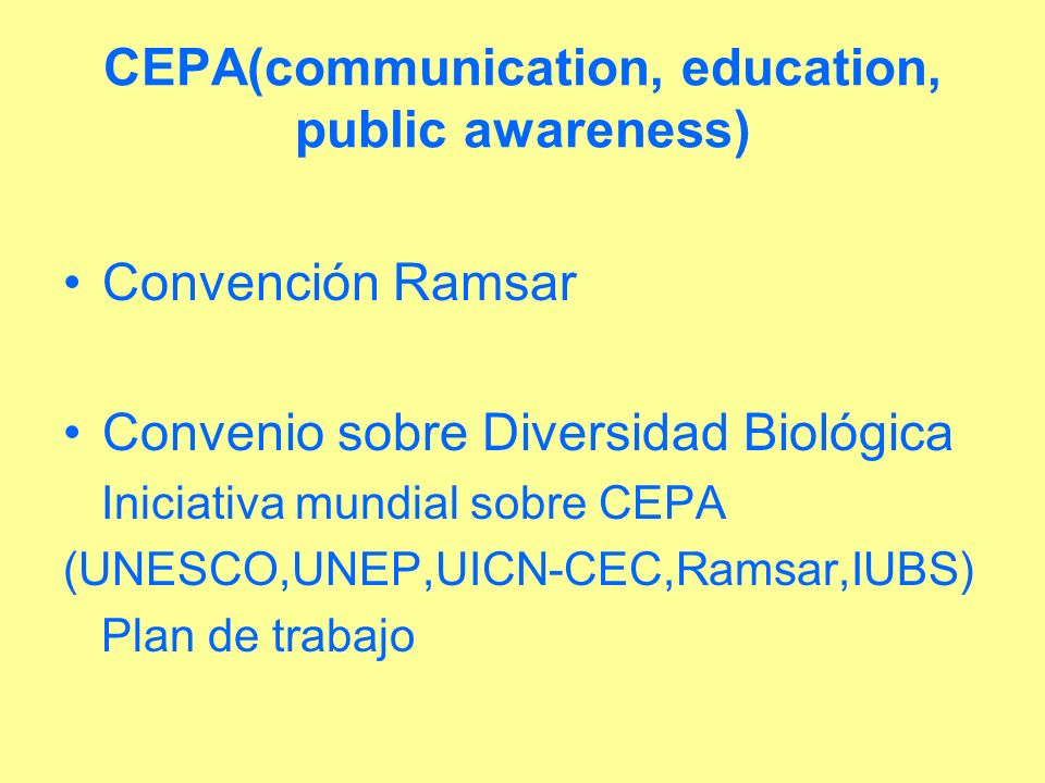 CEPA(communication, education, public awareness)