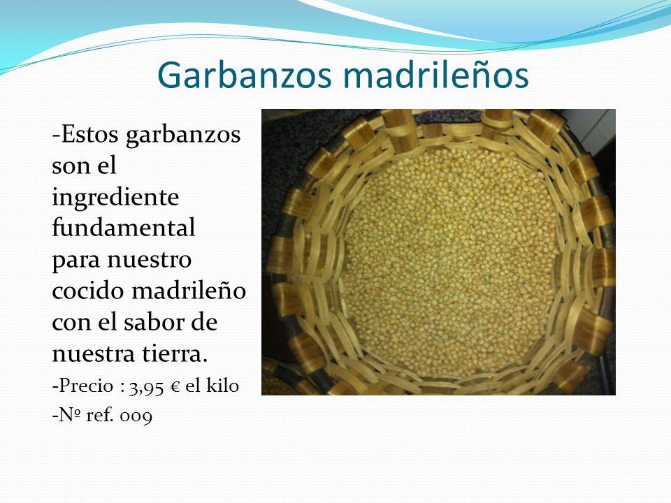 Garbanzos madrileños -Estos garbanzos son el ingrediente fundamental para nuestro cocido madrileño con el sabor de nuestra tierra.