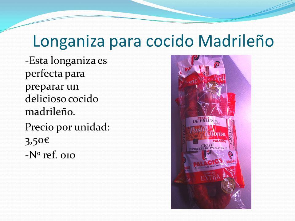 Longaniza para cocido Madrileño