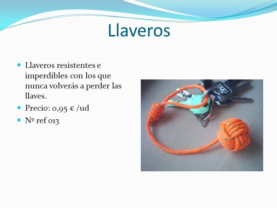 Llaveros Llaveros resistentes e imperdibles con los que nunca volverás a perder las llaves. Precio: 0,95 € /ud.