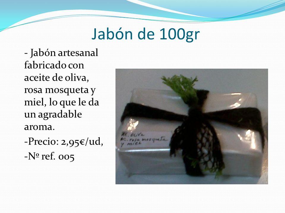 Jabón de 100gr - Jabón artesanal fabricado con aceite de oliva, rosa mosqueta y miel, lo que le da un agradable aroma.